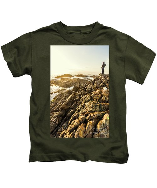 Backpacking A Tropical Sundown Kids T-Shirt