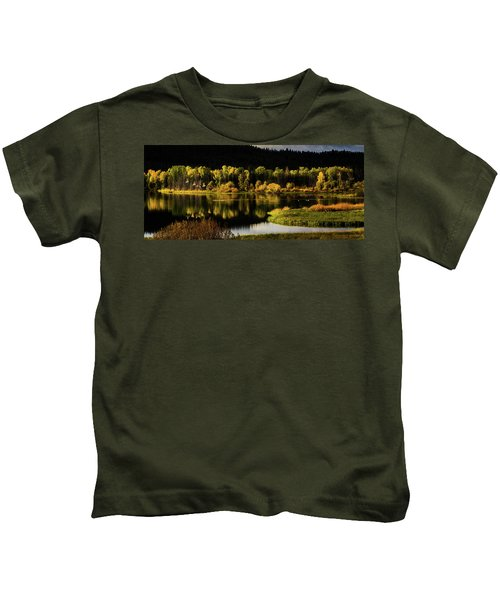 Backwater Blacks At Oxbow Bend Kids T-Shirt