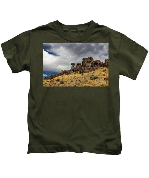 Balanced Rock Adventure Photography By Kaylyn Franks Kids T-Shirt