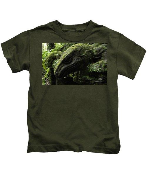 Bali Indonesia Lizard Sculpture Kids T-Shirt