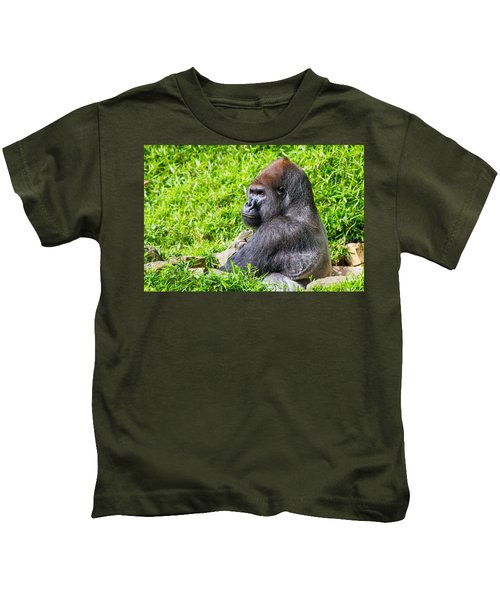 Baraka - Western Lowalnd Silverback Gorilla Kids T-Shirt