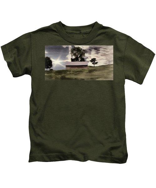 Barn II A Digital Painting Kids T-Shirt