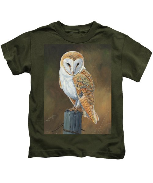 Barn Owl Study Kids T-Shirt