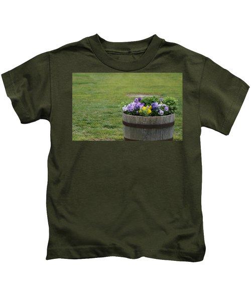 Barrel Of Flowers Kids T-Shirt