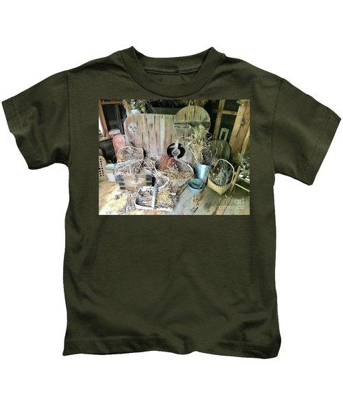 Baskets And Herbs Kids T-Shirt