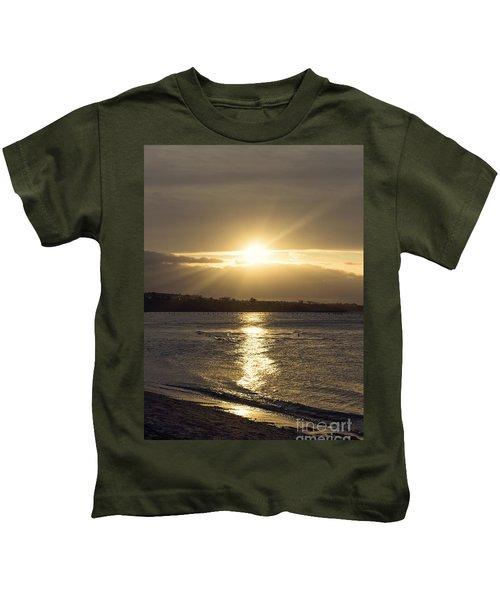 Bathed In Golden Light Kids T-Shirt