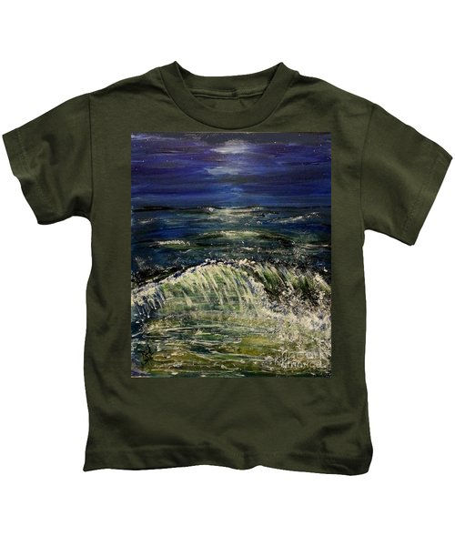 Beach At Night Kids T-Shirt