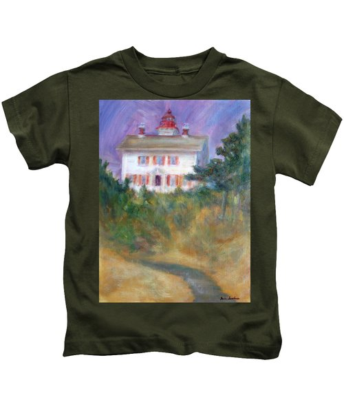 Beacon On The Hill - Lighthouse Painting Kids T-Shirt