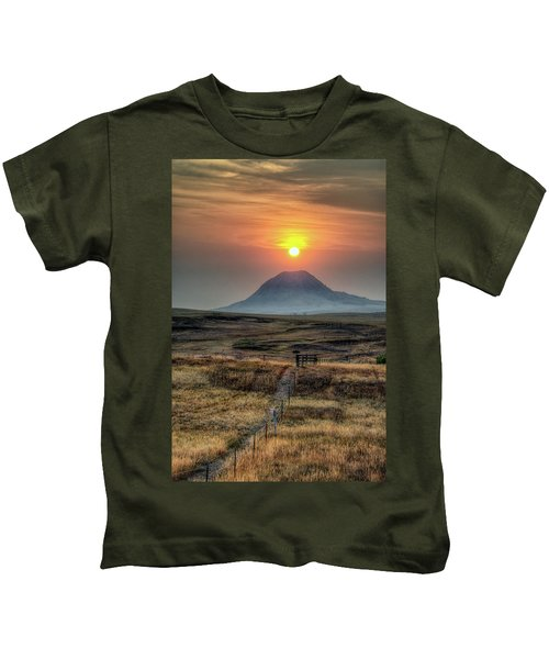 Bear Butte Smoke Kids T-Shirt