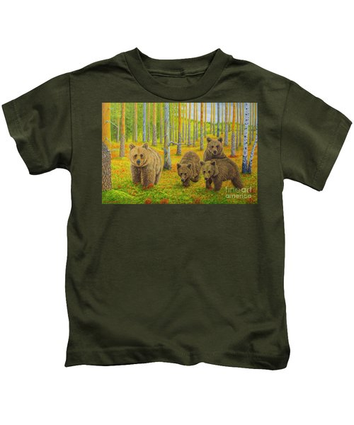 Bear Family Kids T-Shirt