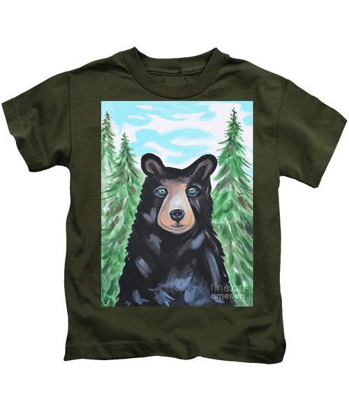Bear In The Woods Kids T-Shirt