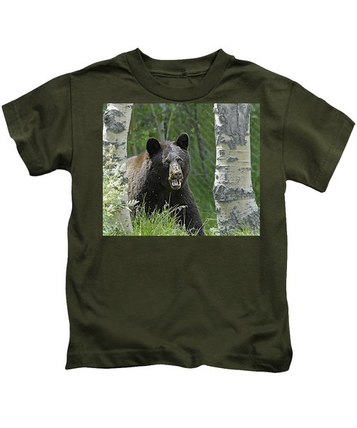 Bear In Yard Kids T-Shirt