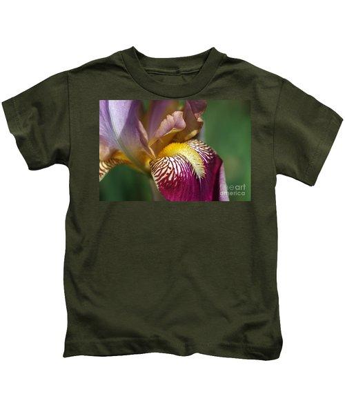 Bearded Iris Flower Mary Todd Kids T-Shirt