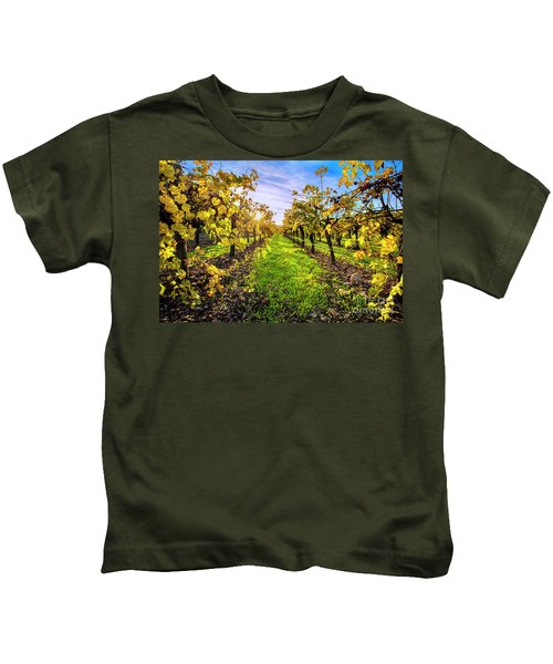 Beautiful Colors On The Vines Kids T-Shirt