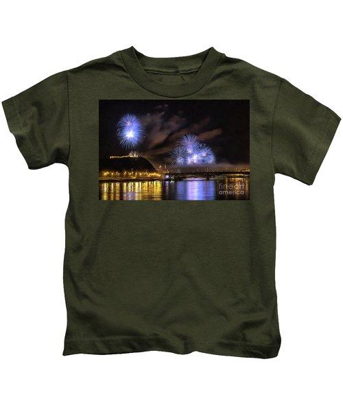 Beautiful Fireworks In Budapest Hungary Kids T-Shirt
