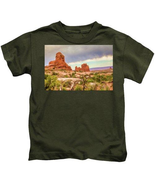 Beauty In Utah Painterly Kids T-Shirt