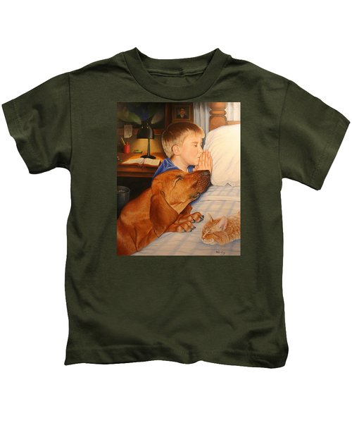Bed Time Prayers Kids T-Shirt