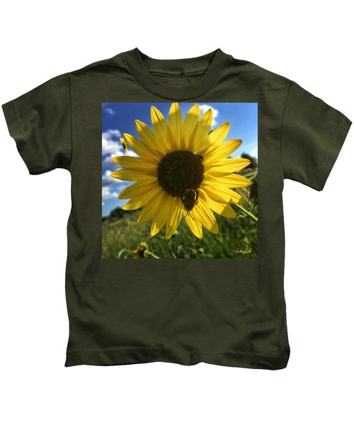 Bee And Sunflower Kids T-Shirt