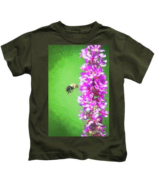 Bee Kissing A Flower Kids T-Shirt