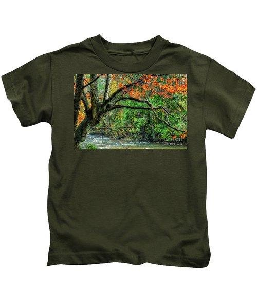 Beech Tree And Swinging Bridge Kids T-Shirt