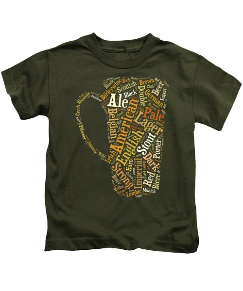 Kids T-Shirt featuring the digital art Beer Lovers Tee by Edward Fielding