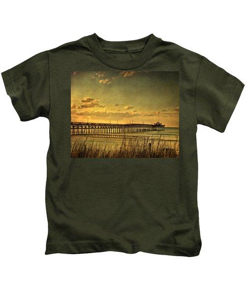 Behind Cherry Grove Pier  Kids T-Shirt