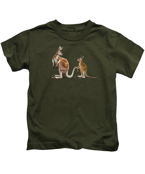Being Tailed Wordless Kids T-Shirt by Rob Snow