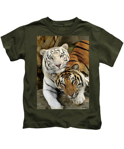 Bengal Tigers At Play Kids T-Shirt