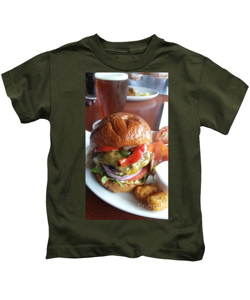 The World's Best Burger And Beer Kids T-Shirt