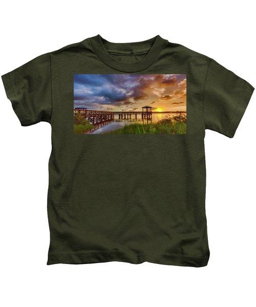 Bicentennial Sunset Kids T-Shirt