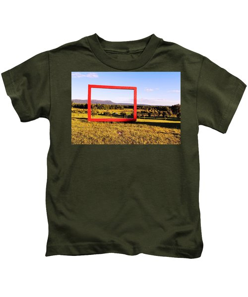 Big Red Frame Easthampton Kids T-Shirt