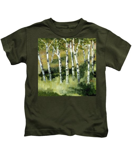 Birches On A Hill Kids T-Shirt
