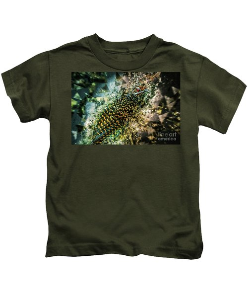 Bird Meets Glass Kids T-Shirt
