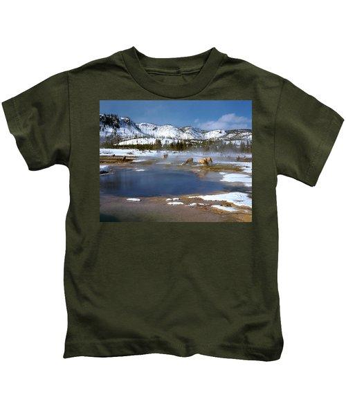 Biscuit Basin Elk Herd Kids T-Shirt