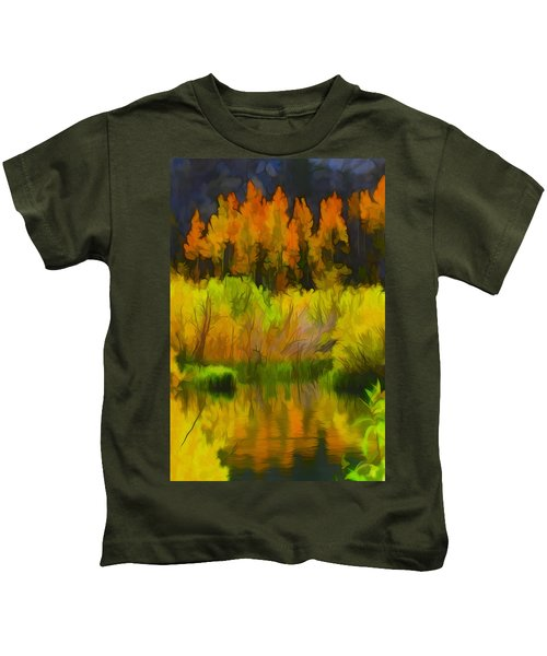 Bishop Creek Aspens Kids T-Shirt