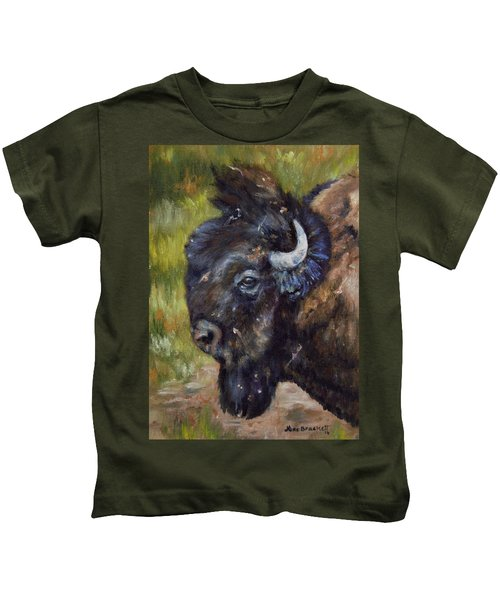 Bison Study 5 Kids T-Shirt