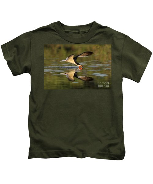 Black Skimmer Fishing Kids T-Shirt