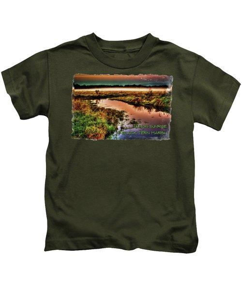 Black Tern Marsh October Sunrise Kids T-Shirt