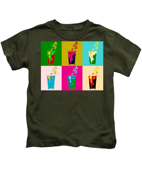 Bloody Mary Pop Art Panels Kids T-Shirt by Dan Sproul