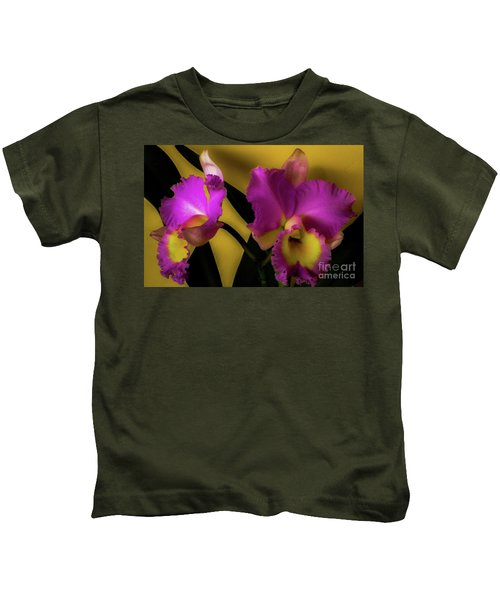 Blooming Cattleya Orchids Kids T-Shirt