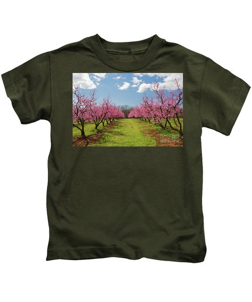 Blooming Peach Orchard 1 Kids T-Shirt