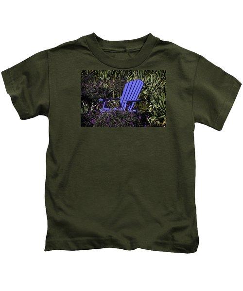 Blue Garden Chair Kids T-Shirt
