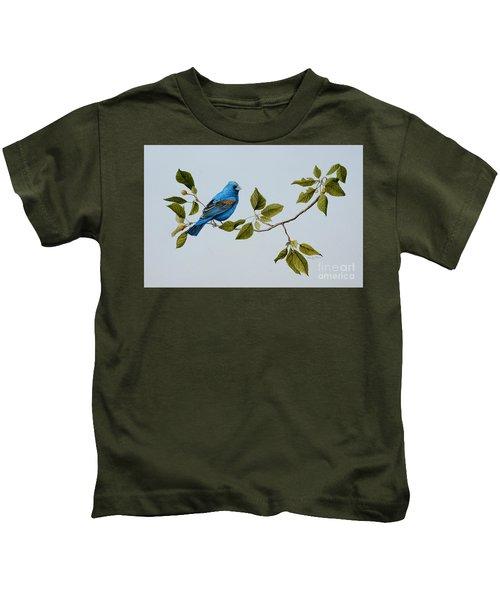 Blue Grosbeak Kids T-Shirt