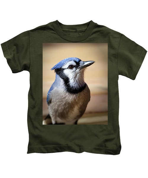 Blue Jay Portrait Kids T-Shirt