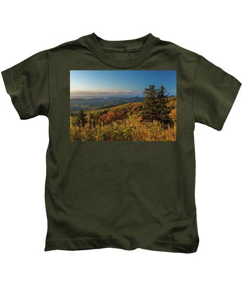 Blue Ridge Mountain Autumn Vista Kids T-Shirt