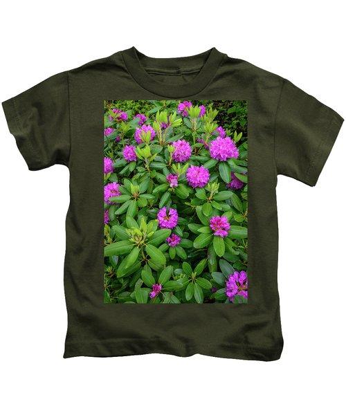 Blue Ridge Mountains Rhododendron Blooming Kids T-Shirt