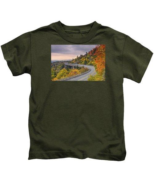 Lynn Cove Viaduct-blue Ridge Parkway  Kids T-Shirt