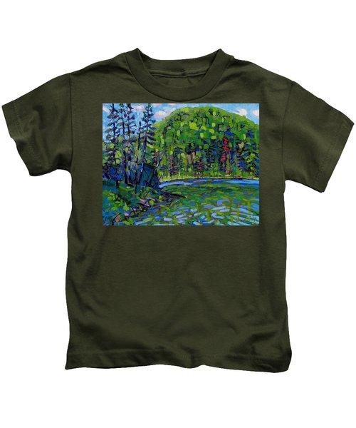 Blue Sky Greens Kids T-Shirt