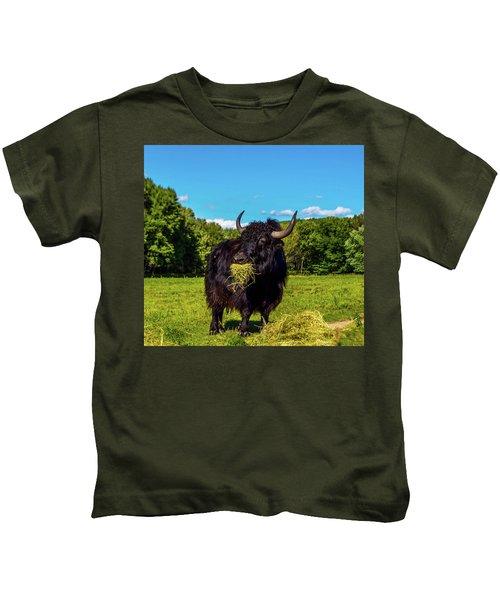 Blue Sky Yak  Kids T-Shirt