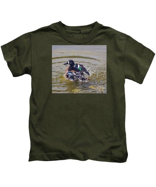 Blue Winged Teal 5 Kids T-Shirt
